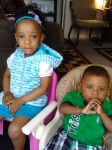 Rev. Wilson Jemison Sr. youngest daughter Tina Smothers's two youngest children of her seven, Christina and Elijah Smot