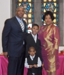Rev. Wilson Jemison's Daughter Janice's Son Elder Kurmmell Knox and His Wife Kimberly with their two sons Kristian Wil